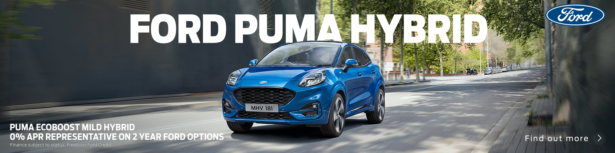 New Ford Puma Hybrid 0% APR